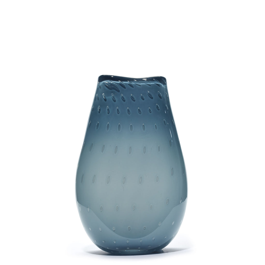 Blue Grey Textured Vase