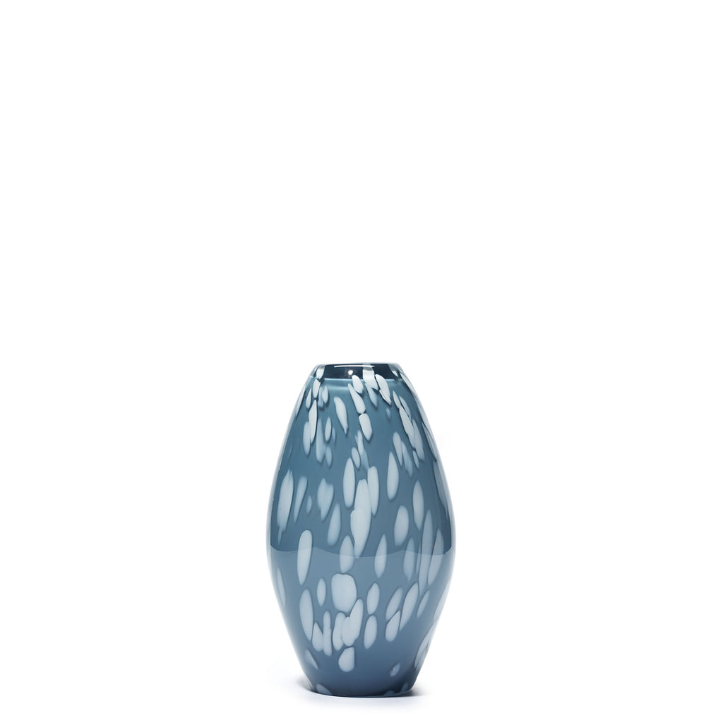 Blue Grey/White Spotted Bud Vase