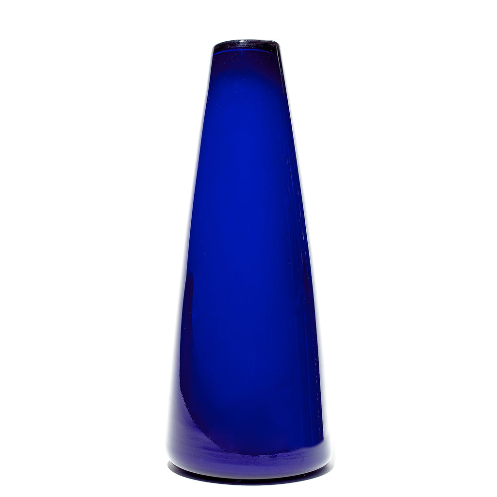 Blue Tapered Vase