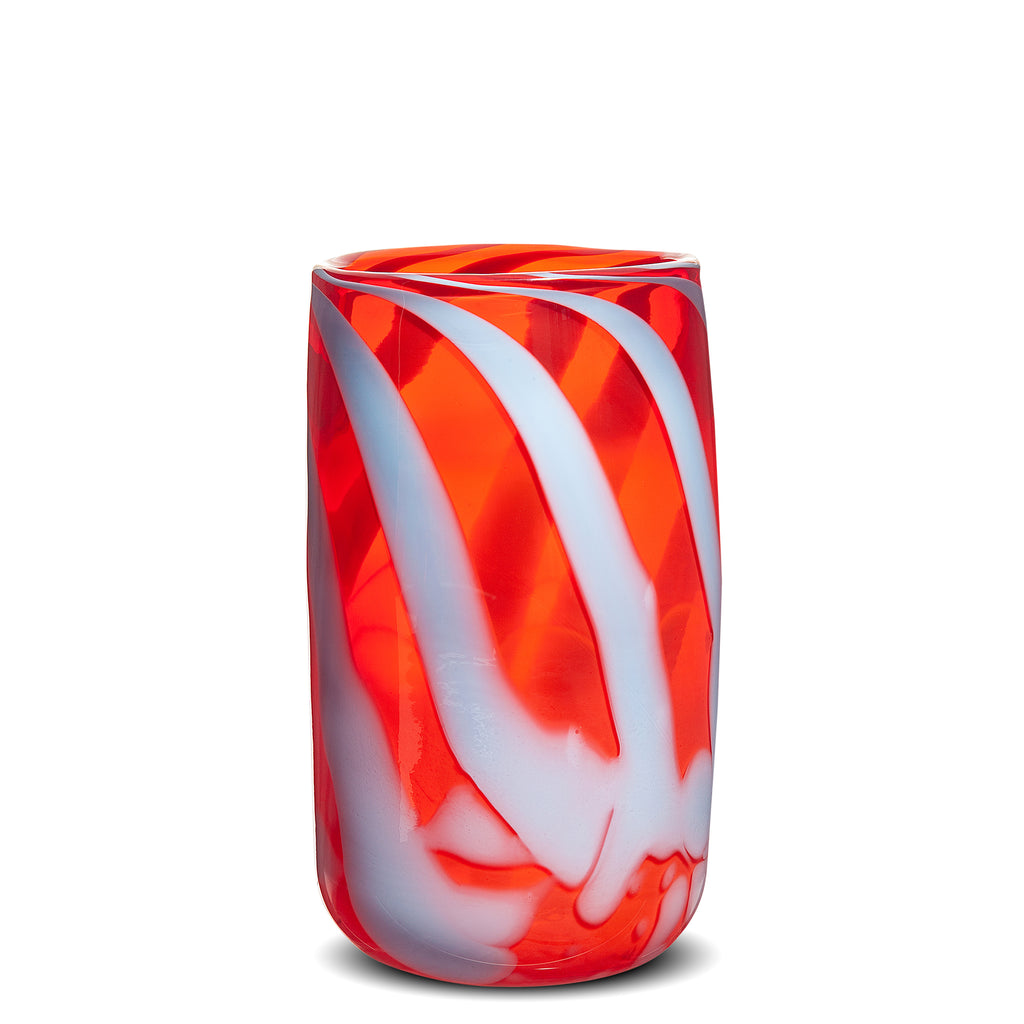 Red/Light Blue Stripe Vase