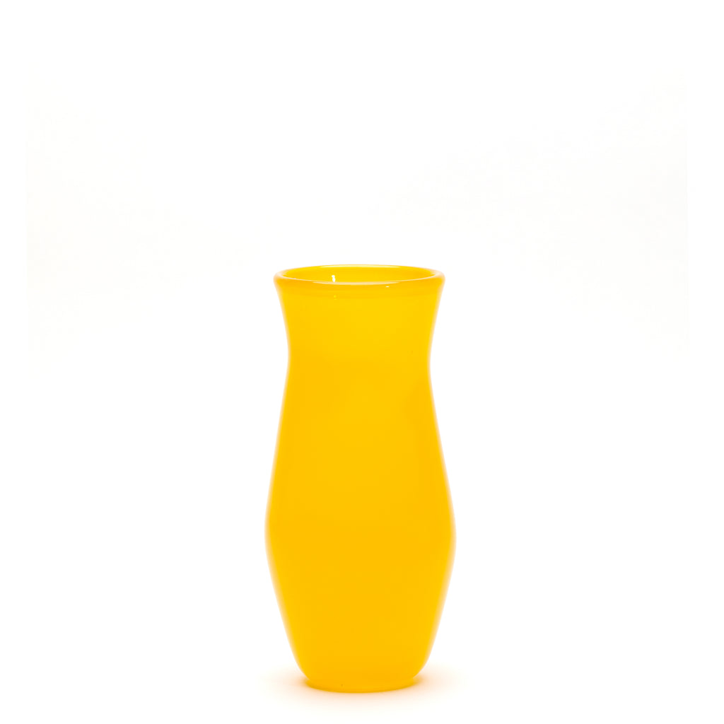 Transparent Yellow Vase