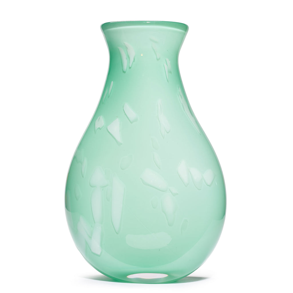 Light Green/White Stroke Vase