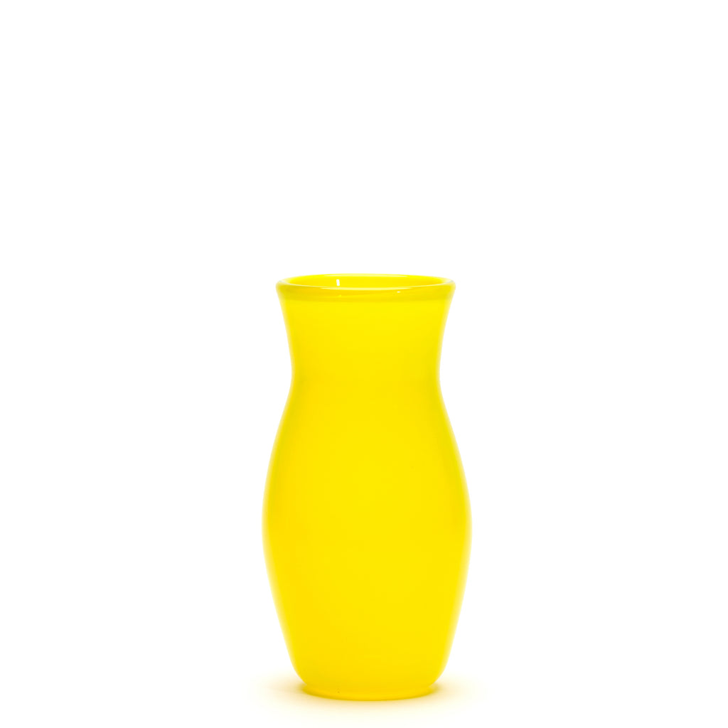 Transparent Neon Yellow Vase