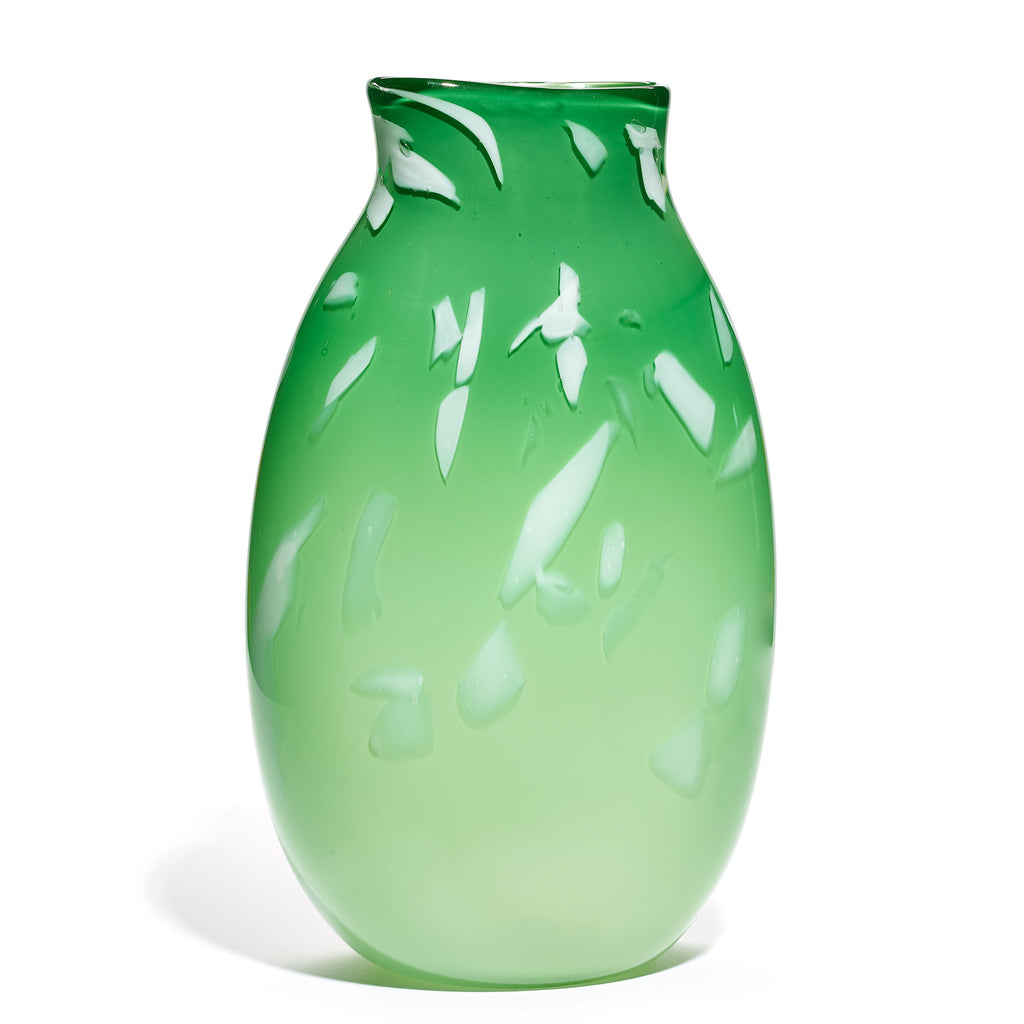 Green/White Stroke Vase