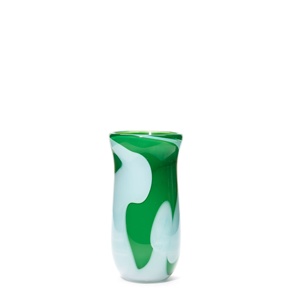 Green/White Swirl Vase