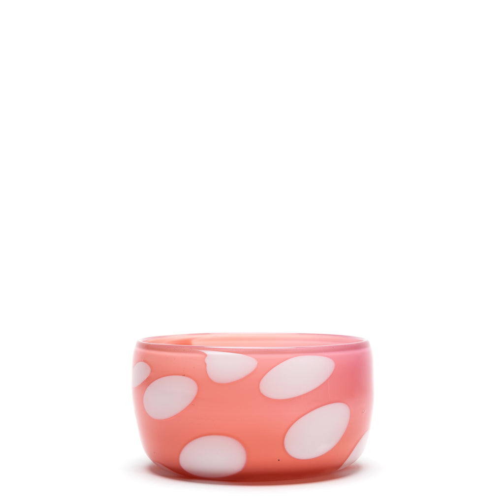 Coral/White Spotted Bowl