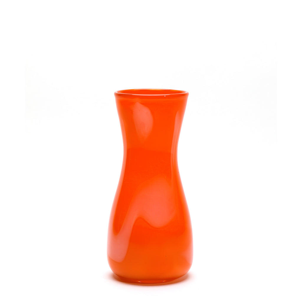 Orange/White Stroke Vase