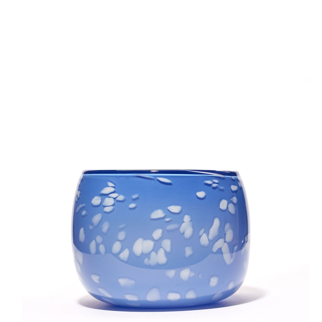Light Blue/White Spotted Bowl