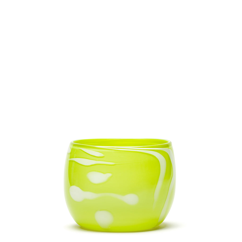 Lime/White Swirl Bowl