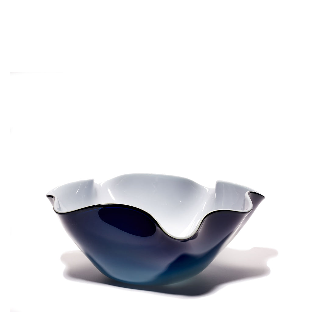 Navy/White Wavy Bowl