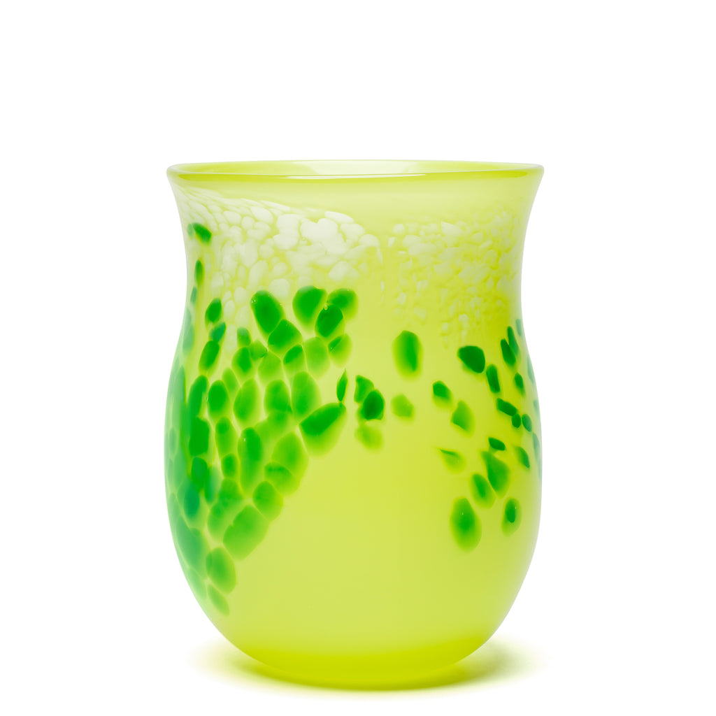 Lime/Green Spotted Vase