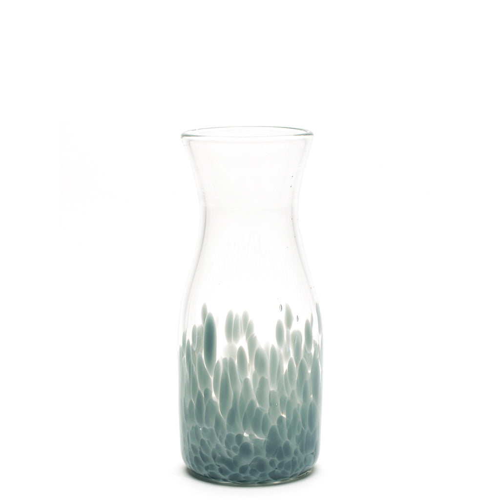 Light Grey/Transparent Spotted Carafe