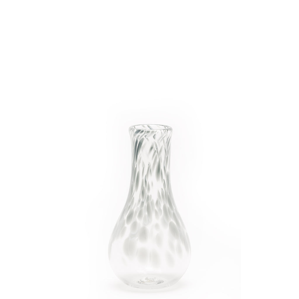 Light Grey/Transparent Spotted Bud Vase