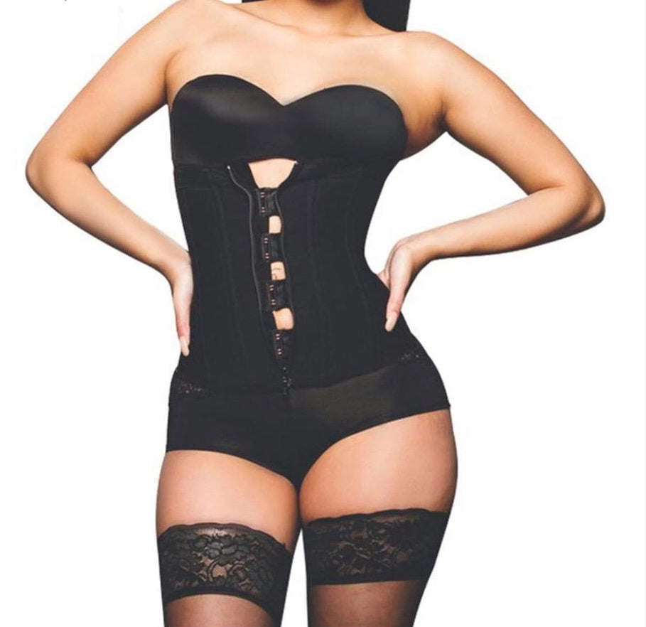 Clip and Zip Waist Trainer Corset Plus Size