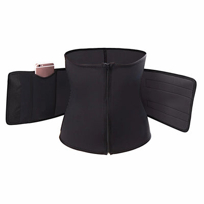 black Waist Training Sweat Belt