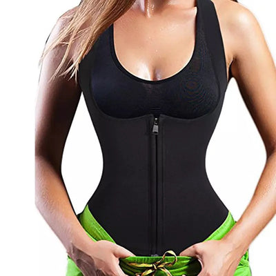 Premium Neoprene Waist Trimmer+Fat Burner Sweat Vest