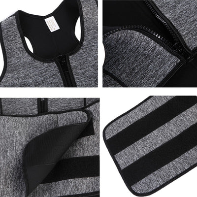 Stylish Neoprene Sauna Sweat Waist Trainer Vest
