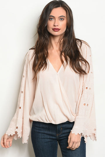 Women's Blush Long Sleeve Blouse