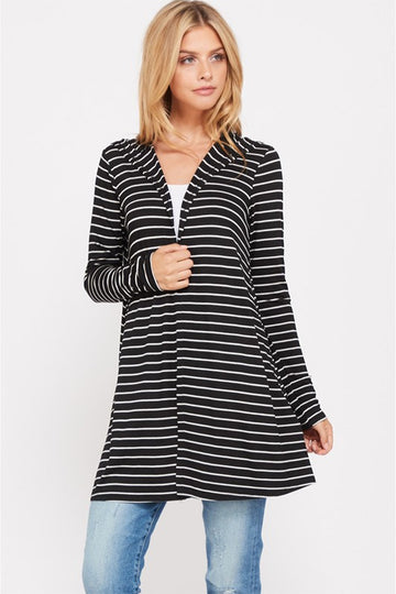 Let's Be Comfy Striped Cardigan