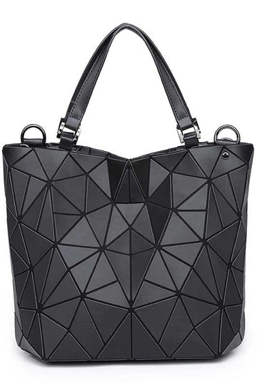Women's PVC Black Modern Handbag