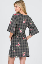 Women's Plaid and Floral Dress