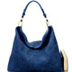 Striped Hobo Bag Blue