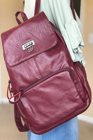Bordeaux Women's Genuine Leather Backpack
