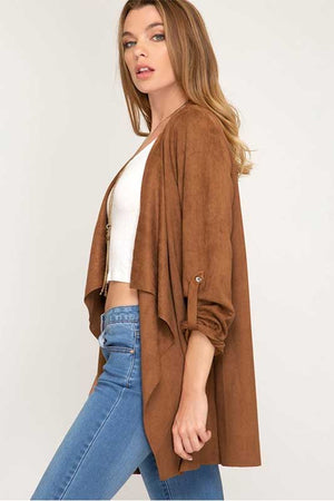 Women's Camel Cardigan
