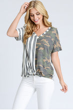 Women's Camo shirt with tie front for casual wear