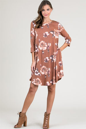 Women's Shift Floral Dress