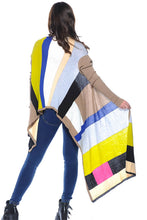 Women's Ribbed Multi-colored cardigan wrap