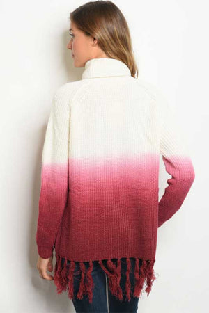 Women's Ombre Turtle Neck Sweater