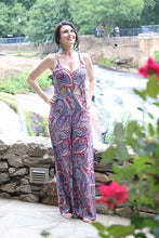 Crazy Paisley Sleeveless Print Jumpsuit