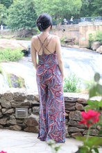 Women's Paisley Summer Sleeveless Jumpsuit