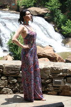 Women's Summer Jumpsuit Paisley Design