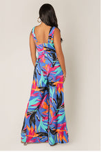 Women's Tropical Print Sexy Jumpsuit for Summer