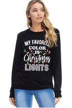 Women's Long Sleeve Black Holiday Tee Shirt