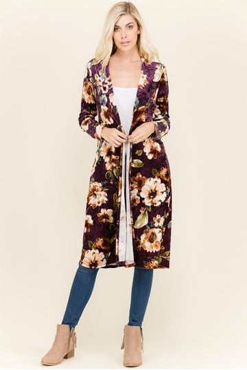 Everything Is Perfect with Floral and Velvet