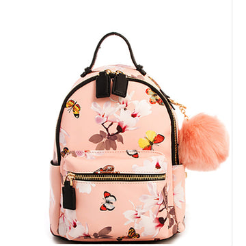 Flutter Mini Chic Pompom Backpack