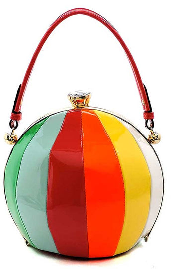 ... Have A Ball Bright Vegan Round Handbag