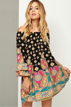 Women's Off The Shoulder Paisley Dress