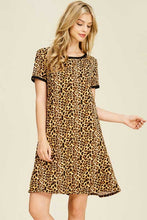 Women's Animal Print Midi Dress