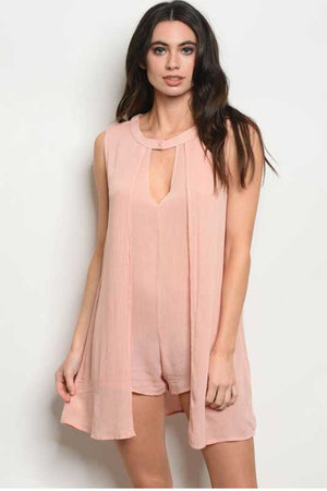 Women's Short Blush Romper with Jacket