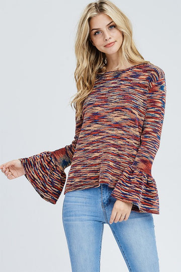 Saved For The Bell Multi-Colored Sweater
