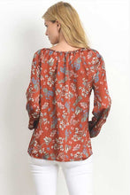 Women's Long Sleeve Floral Top