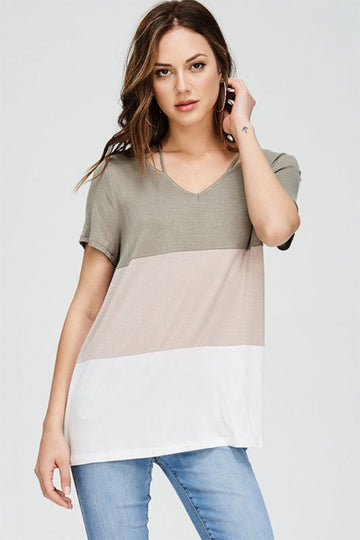 Women's color block tunic