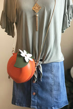 Women's Orange Shaped Crossbody Bag