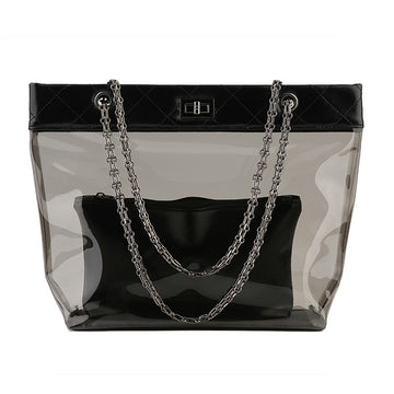 Clear Tote with Black Trim
