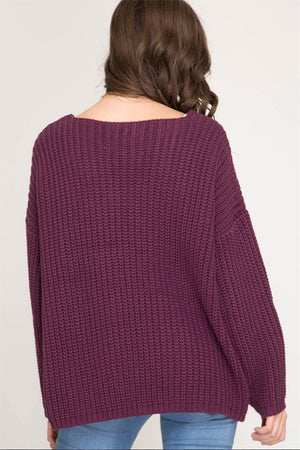 Women's Plum Sweater