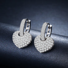 Zircon Heart Shape Drop Earrings